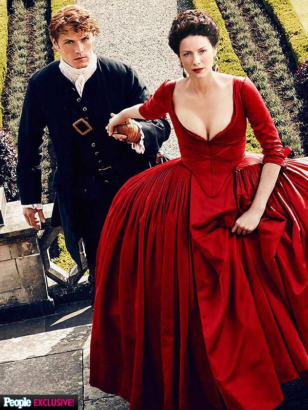 Outlander-Season-2-Image-Red-Dress